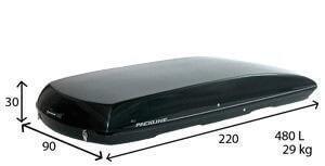 längd och bredd på en takbox